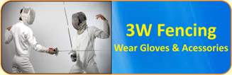 3W Fencing Wear Gloves & Accessories
