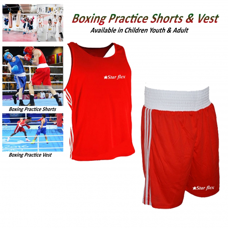 Boxing Practices polyester Silk Long Shorts