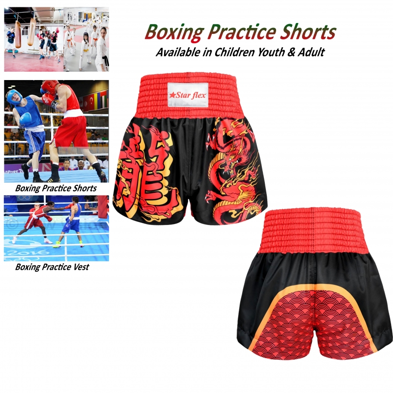 Boxing Practices polyester Silk Shorts