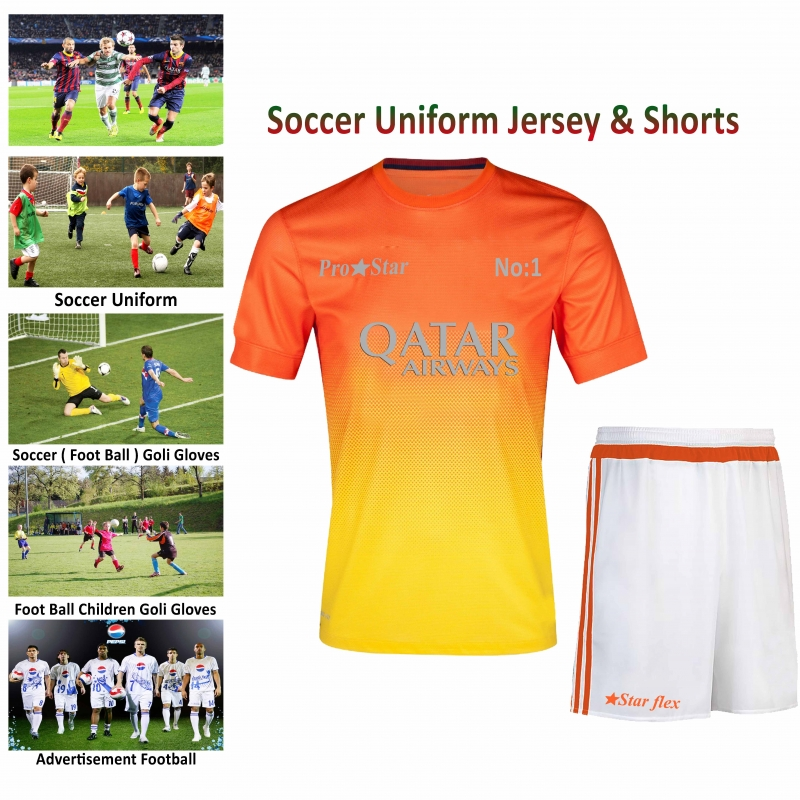 Easy Wear Soft Soccer Uniform Jersey & Shorts