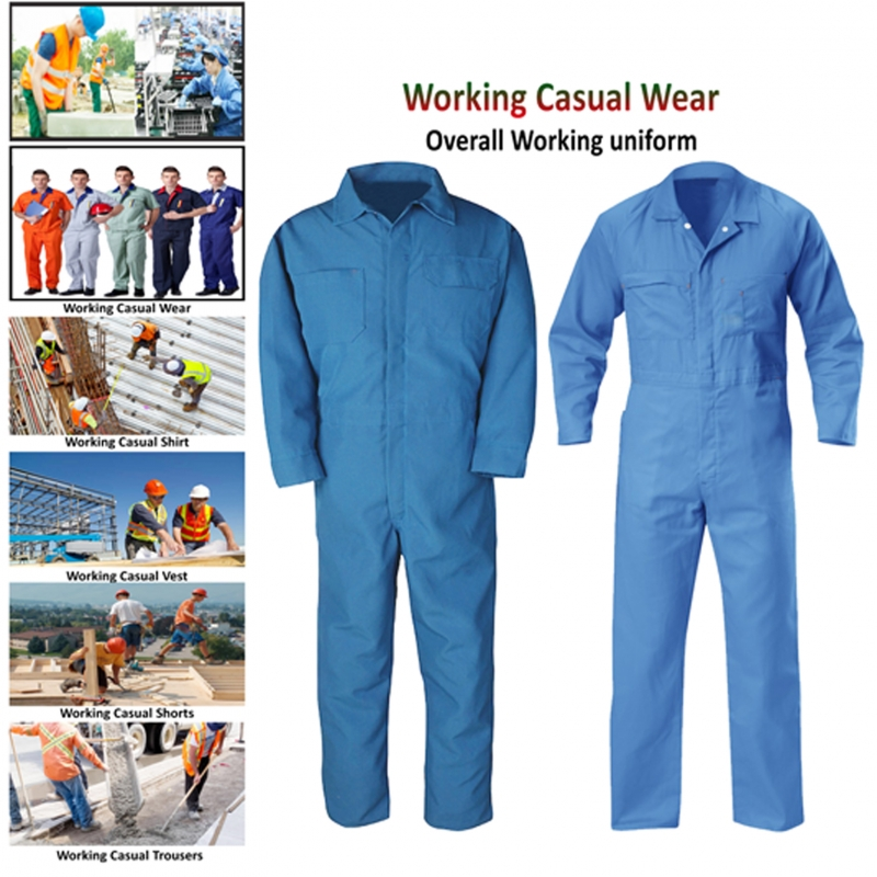 65% Cotton 35% Polyester Overall Working Uniform