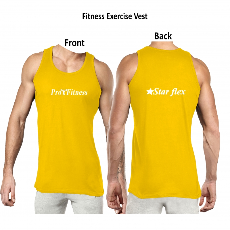 White Cotton Casual & Fitness Practice Vest